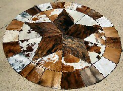 Round Cowhide Rugs